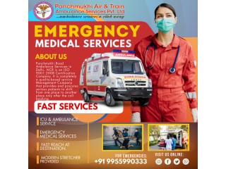 ICU Road Ambulance Service in Imphal by Panchmukhi