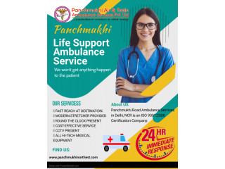 Life Support Ambulance Service in Bishnupur by Panchmukhi