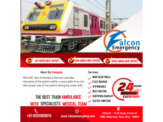 Avail Falcon Emergency Train Ambulance in Patna for Comfortable Commutation