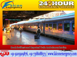 Cover Long Distance Conveniently with Falcon Train Ambulance in Delhi