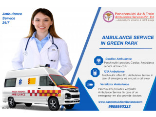 ICU Ambulance Service in Green Park by Panchmukhi