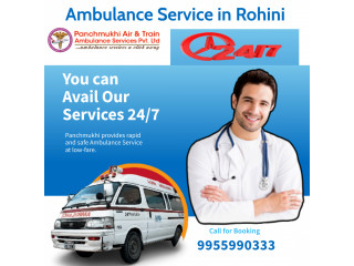 Oxygen support Ambulance Service in Rohini by Panchmukhi