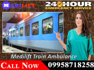 Get Medilift Train Ambulance Patient Transfer Services in Raipur with ICU setup