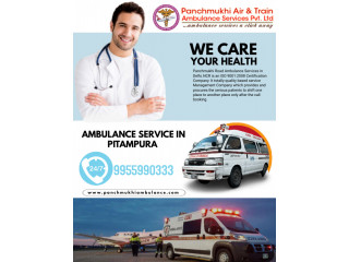 Panchmukhi Ambulance Service in Pitampura with oxygen support