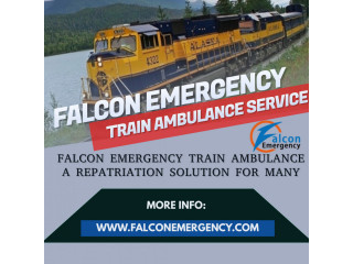 Get Falcon Reliable and Fast Train Ambulance Service in Delhi with Medical Team