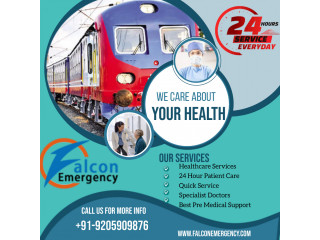Get Quick and Low Price Train Ambulance Service in Bhopal by Falcon Emergency