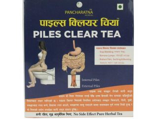 Piles clear tea