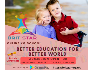 Online Learning Website for Kindergarten Students - Admission Open