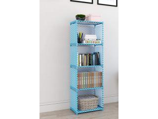Books Storage Organizer Children Book Rack| Bookcase for Home Furniture |Cabinet Shelves for Bedroom Office Living Room (4 Cases,)