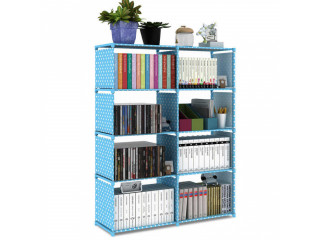 Book Rack for Home Book Shelf 4 x 2 Layers for Books, Toys Etc. 125 x 80 x 30 cm